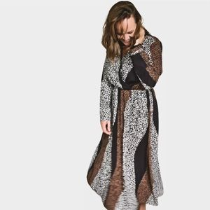 BNWOT Boo Hoo large animal print dress maxi long